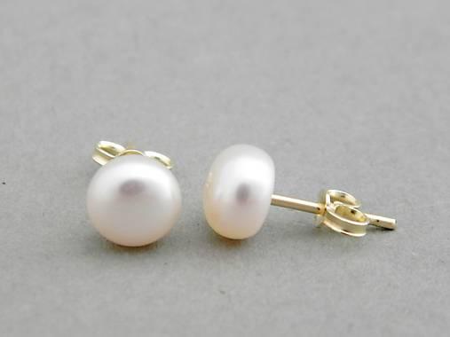 2f6c5dba9 585 zlaté pecky s perlami Satu / soamijewelry - SAShE.sk - Handmade ...