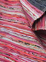 KOBEREC tkaný ,, multi ružovo-oranžový