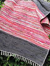 Úžitkový textil - KOBEREC tkaný ,, multi ružovo-oranžový - 5691366_