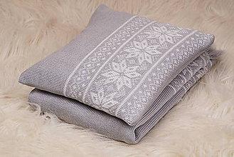 Textil - Vankúšik do kočíka - nórsky vzor - sivá - 5691337_