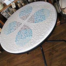 Nábytok - Stôl tyrkysovobéžový :) predaný - 5691813_