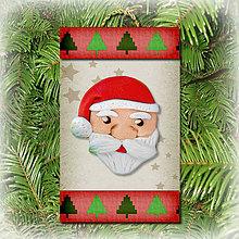 Dekorácie - Vianočná ozdoba (stromčeková - Santa) - 5692308_