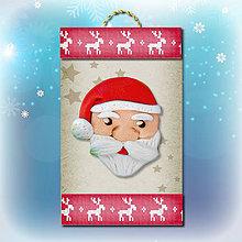 Dekorácie - Vianočná ozdoba (sobíková - Santa) - 5692328_