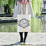 Veľké tašky - Taška plátená hrubá 38x42cm LET LOVE LEAD - 5690877_