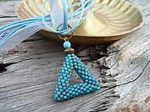 Náhrdelníky - Náhrdelník Nebeský trojúhelník - 5694863_