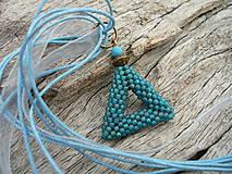 Náhrdelníky - Náhrdelník Nebeský trojúhelník - 5694869_