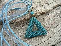 Náhrdelníky - Náhrdelník Nebeský trojúhelník - 5694870_