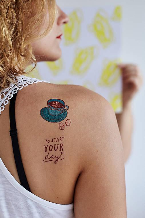 Dočasné tetovačky - Káva