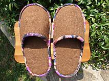 Obuv - Veľké hnedé papuče z poťahovky - 5694430_