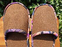 Obuv - Veľké hnedé papuče z poťahovky - 5694431_