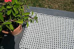 Úžitkový textil - Háčkovaný maslový obdĺžník - 5694864_