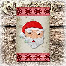 Dekorácie - Vianočná ozdoba (vločková - Santa) - 5692737_