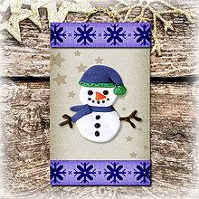 Dekorácie - Vianočná ozdoba (vločková - Snehuliak) - 5692893_