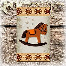 Dekorácie - Vianočná ozdoba (vločková - Hojdací koník) - 5692897_