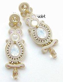 Náušnice - Cream Wedding II - na želanie :) - 5696433_