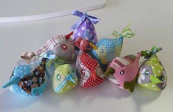 Dekorácie - Textilné vtáčence - 5697652_