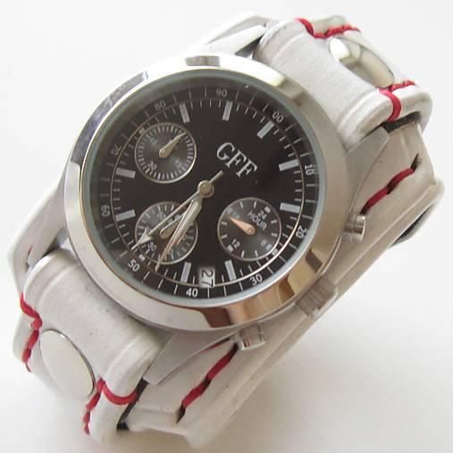 91e508006 Dámske kožené hodinky biele / leon - SAShE.sk - Handmade Náramky
