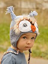 Detské čiapky - sovička  zapálená  - 5697836_
