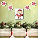 Tabuľky - Vianočná girlanda - Santa - 5695518_