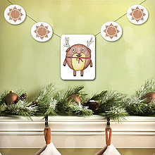 Papiernictvo - Vianočná girlanda - 5695490_