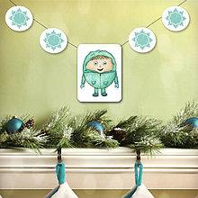 Tabuľky - Vianočná girlanda - chlapček - 5695509_