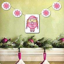 Tabuľky - Vianočná girlanda - dievčatko - 5695513_