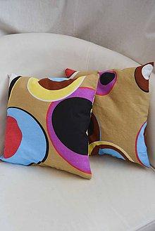 Úžitkový textil - _ReTRo... KoMPLeT vankúšik... 35x35 cm - 5699680_