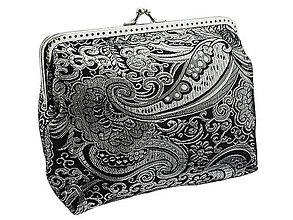 Kabelky - Spoločenská brokátová dámská kabelka s retiazkou na rameno  0775A - 5698850_