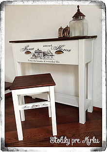 Nábytok - Konzolový stolík + stolček - 5698282_