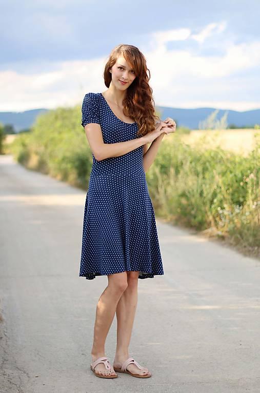 Šaty - Šaty s riasenými rukávmi.... - 5699827_