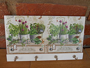 Nábytok - Vešiak s bylinkami 1 - 5698459_