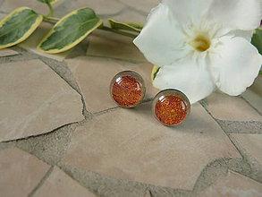 Náušnice - puzetky (Orange) - 5697970_