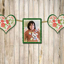 Papiernictvo - Fotoalbum a girlanda v jednom - vintage flowerheart - 5698562_