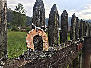 Darčeky pre svadobčanov - podkova s kovovým nádychom - 5701777_