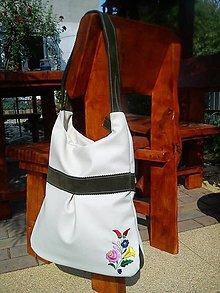 Veľké tašky - Vyšívaná taška - 5701662_