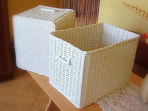 Košíky - Košík kúpeľníček biely  (35 x 28 výška 30 - Biela) - 5700303_