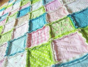 Textil - Rag Quilt pre Zuzanku - 5701554_