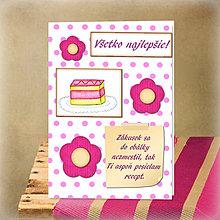 Papiernictvo - Pohľadnica s receptom - 5701438_