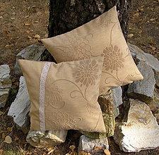 Úžitkový textil - vankúšik ... pieskový/2ks - 5703256_