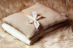 Textil - Teplučká pletená deka do kočíka a postieľky - vzor CreamEye, OEKO-TEX® - 5702464_