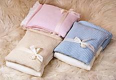 Textil - Teplučká pletená deka do kočíka a postieľky - vzor CreamEye, OEKO-TEX® - 5702465_