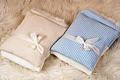 Textil - Teplučká pletená deka do kočíka a postieľky - vzor CreamEye, OEKO-TEX® - 5702469_