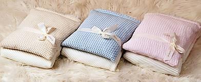 Textil - Teplučká pletená deka do kočíka a postieľky - vzor CreamEye, OEKO-TEX® - 5702471_