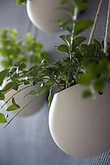 Nádoby - porcelánové kvetináče 3ks - 5702937_