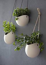 Nádoby - porcelánové kvetináče 3ks - 5702938_