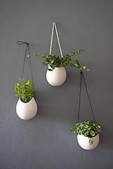 Nádoby - porcelánové kvetináče 3ks - 5702942_