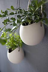 Nádoby - porcelánové kvetináče 3ks - 5702943_