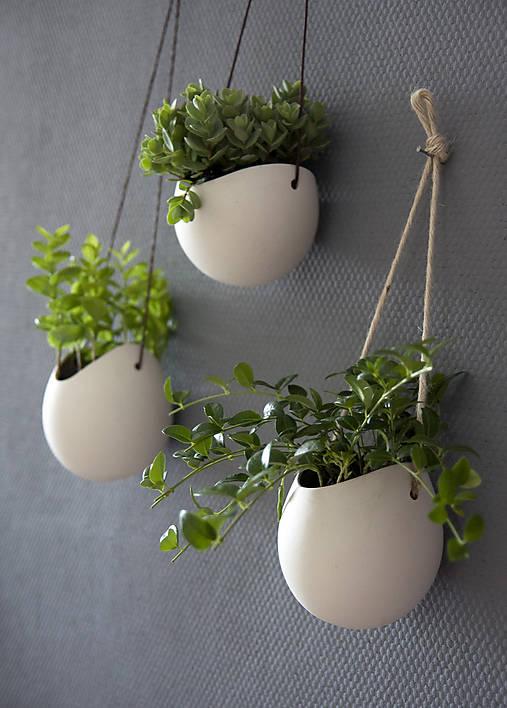 porcelánové kvetináče 3ks