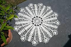 Úžitkový textil - Kruhová háčkovaná dečka - 5703852_