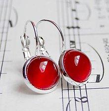 Náušnice - Red Agate & Silver / Náušnice s červeným achátom v striebornom prevedení - 5705311_